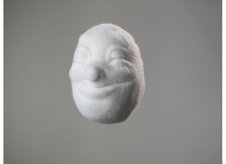 »Cloudfaces«, feltet polyester wool, approx. 20cm, 2013