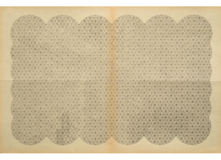 »Encyclopedia Of Vibration 18«, Ink and Pencil on Paper, 48 x 32 cm 2013
